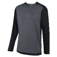 IXS Flow X Long Sleeve Jersey 2021 Graphite-Solid Black S
