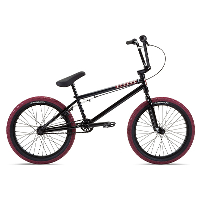 """Stolen Casino 20"""" BMX Bike 2021 Black - Blood Red"""