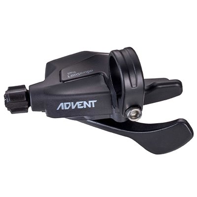 microSHIFT Advent M9195 9 Speed Trigger Shifter Black Clamp On