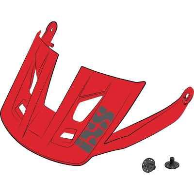 IXS Trigger AM Helmet Visor + Pins Fluo Red S-M