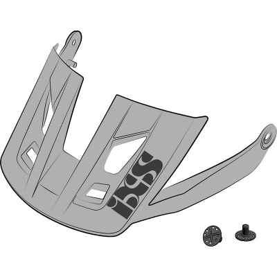 IXS Trigger AM Helmet Visor + Pins Grey M-L