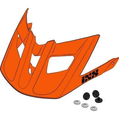 IXS Trail EVO Helmet Visor + Pins Orange One Size