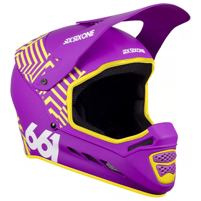 SixSixOne Reset Helmet Dazzle Purple XS