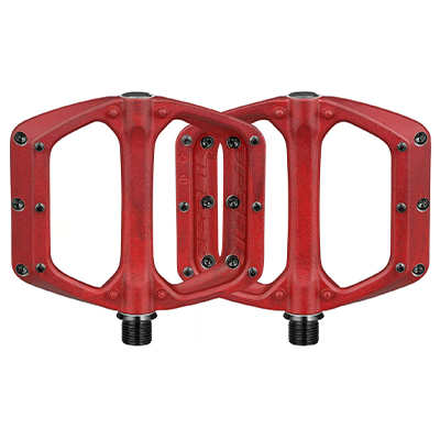 Spank Spoon DC Pedals Red