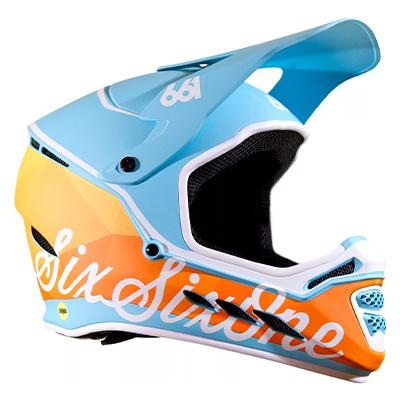 SixSixOne Reset MIPS Helmet Geo Blorange XS