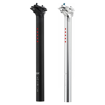 Brand-X LightSKIN Seatpost Light USB Charge Silver 350mm 27.2mm