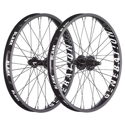 """Blank Generation XL BMX Wheelset Black 20"""""""