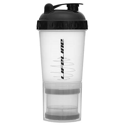 LifeLine Shaker Bottle with Storage Compartment